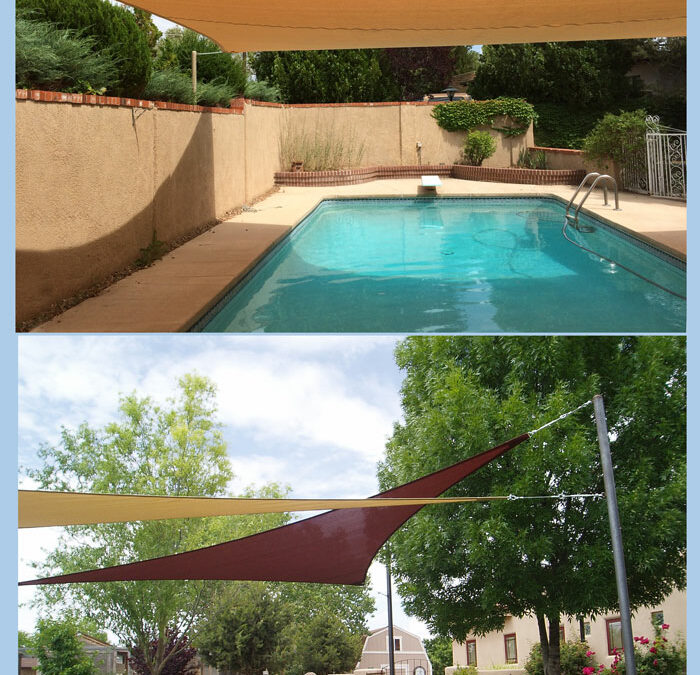 Freestanding Shade Sails
